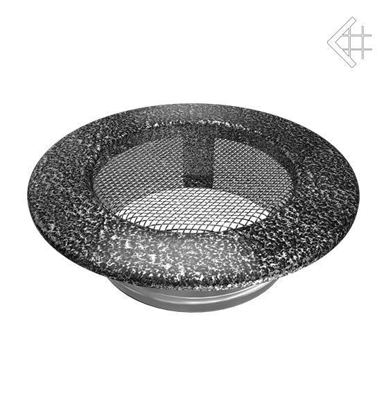 Kratka kominkowa/wentylacyjna okrągła czarno-srebrna Ø 100
