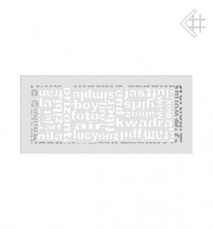 Kratka kominkowa 17x37 ABC biała