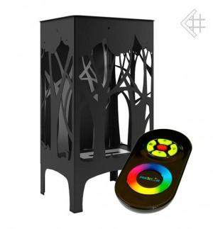 Biokominek FOXTROT czarny - pilot LED