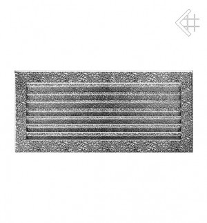 Kratka kominkowa 17x37 FRESH  czarno-srebrna