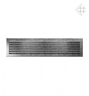 Kratka kominkowa 17x70 FRESH  czarno-srebrna