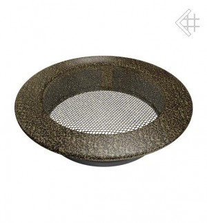 Kratka kominkowa okrągła czarno-złota Ø 150