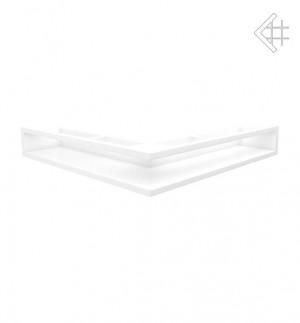 Kratka kominkowa luft narożny 560x560x90 mm - kolor biały - rzut ogólny