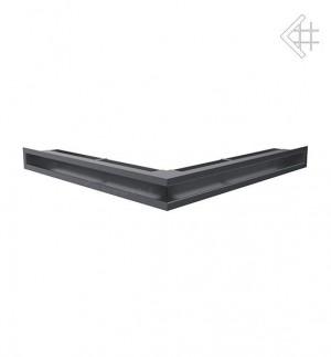 Kratka kominkowa luft narożny 560x560x60 mm - kolor grafitowy - rzut ogólny