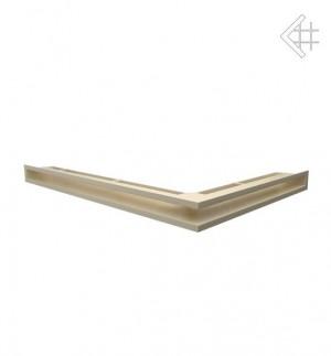 Kratka kominkowa luft narożny lewy 547x766x60 mm - kolor kremowy - rzut ogólny
