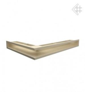 Kratka kominkowa luft narożny prawy 547x766x90 mm - kolor kremowy - rzut ogólny