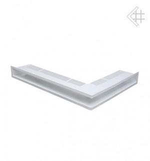 Kratka kominkowa luft narożny lewy 547x766x90 mm - kolor biały - rzut ogólny