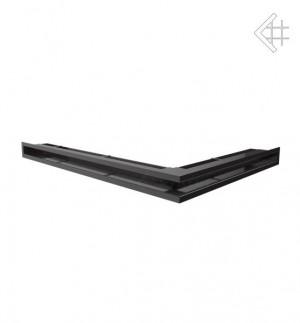 Kratka kominkowa luft narożny lewy 547x766x60 mm - kolor grafitowy - rzut ogólny
