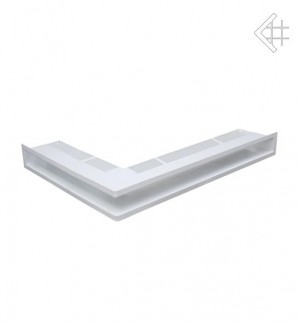 Kratka kominkowa luft narożny prawy 547x766x60 mm - kolor biały - rzut ogólny