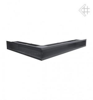 Kratka kominkowa luft narożny prawy 547x766x90 mm - kolor grafitowy