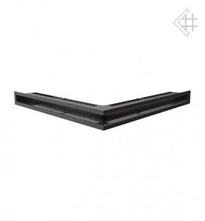 Kratka kominkowa luft narożny 560x560x60 mm - kolor czarny- rzut ogólny