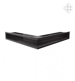 Kratka kominkowa luft narożny 560x560x90 mm - kolor czarny- rzut ogólny