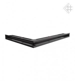 Kratka kominkowa luft narożny prawy 547x766x60 mm - kolor czarny- rzut ogólny