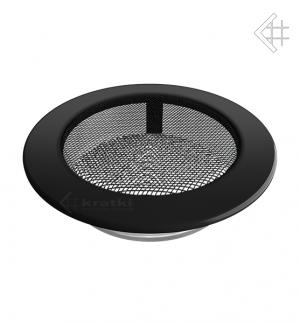 Kratka kominkowa okrągła czarna Ø 150